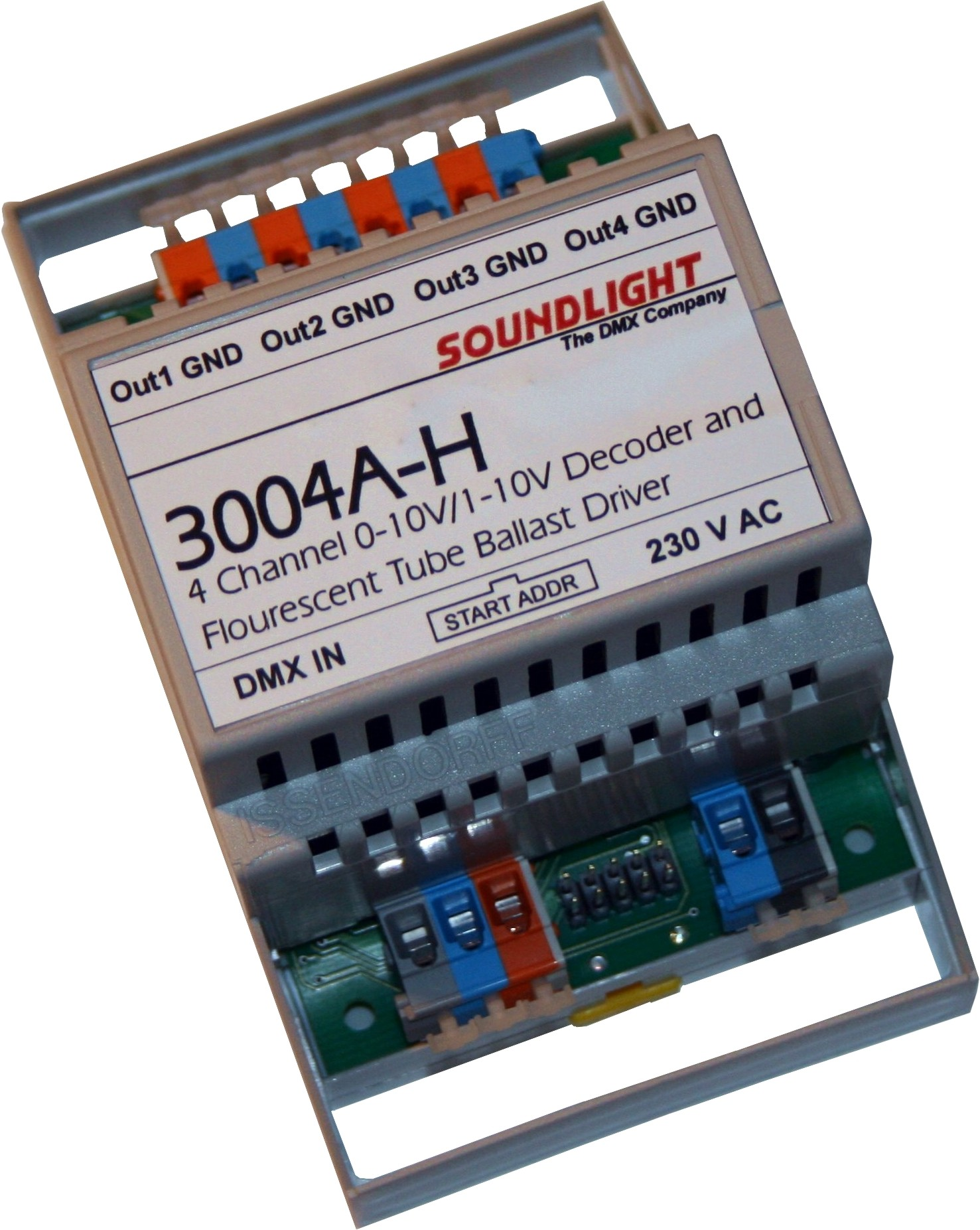 3004A-H | DMX Demux 4ch Universeel