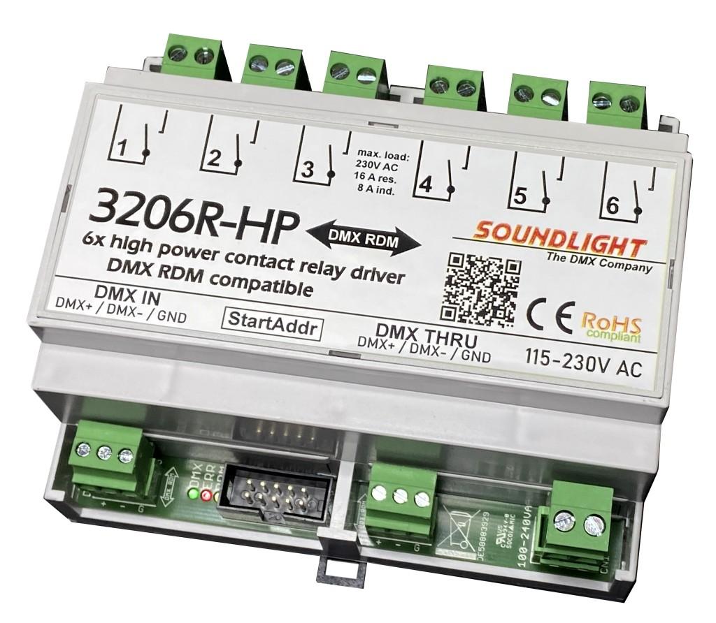3206R-HP RDM | DMX Relais 6x NO 230V 16A