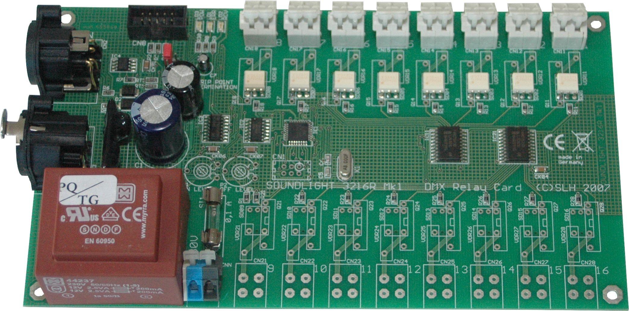 3308R-DC | Relaiskaart DMX512 8 x 24V DC, RDM