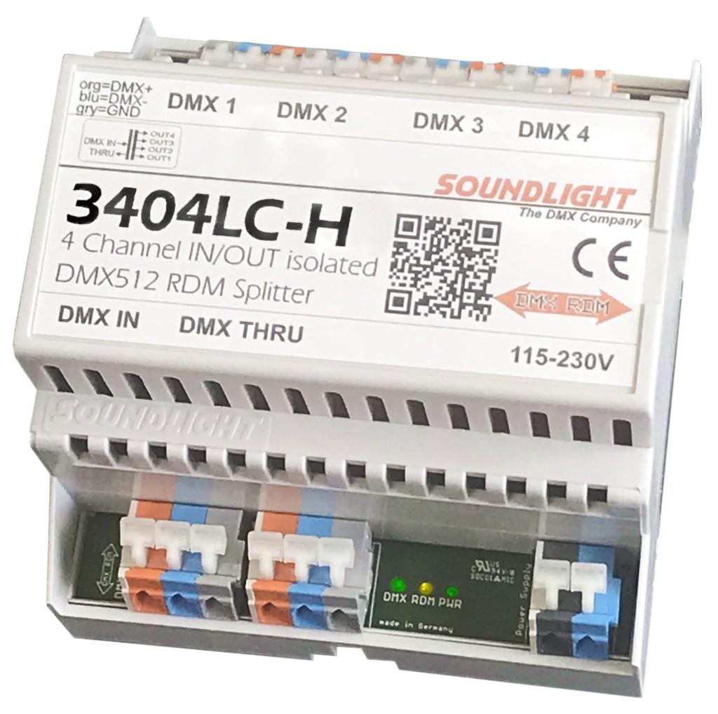 3404LC-H | DMX Splitter/Booster 4-voudig | RDM