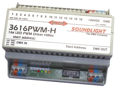 3616PWM-H   PWM 16ch 24V/1A CA, RDM