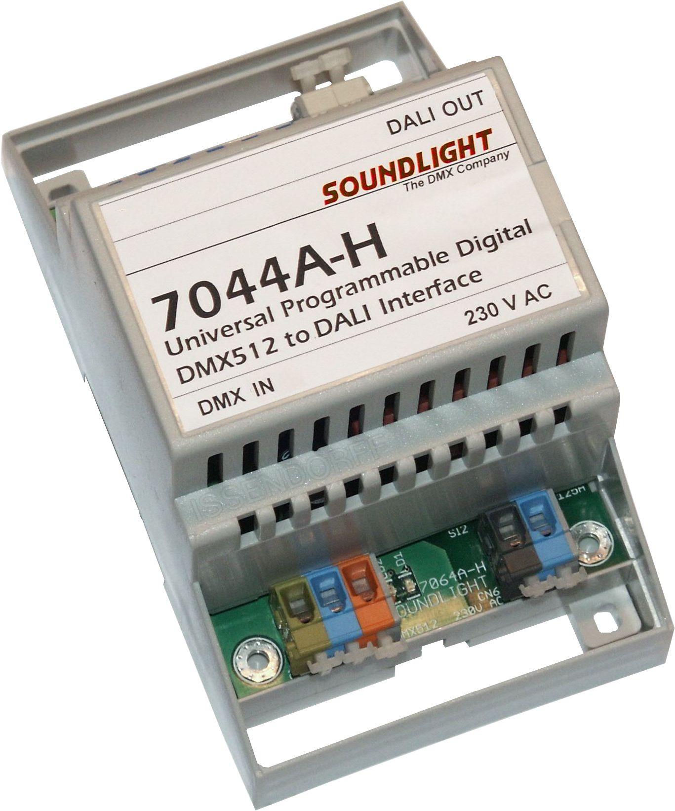 7044A-H | DMX naar DALI interface, 4 groepen