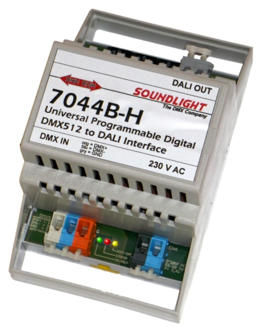 7044B-H | DMX naar DALI interface, 16 groepen