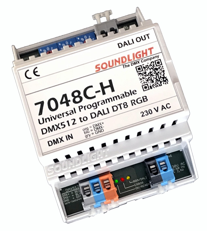 7048C-H | DMX naar DALI bus DT8 - RGB & CCT