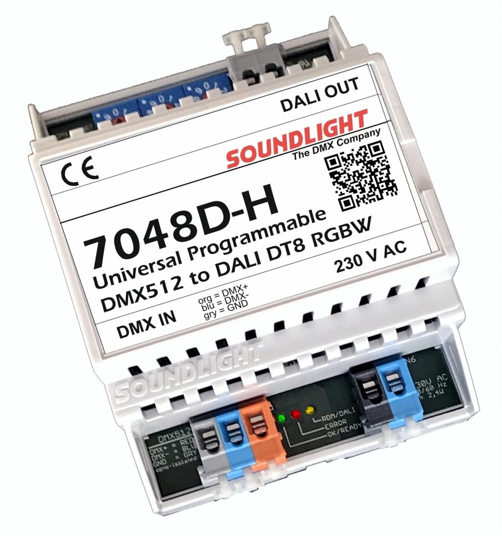 7048D-H   DMX naar DALI bus DT8 - RGBW