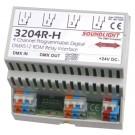 3204R-H | DMX Relais 4x NO/NC 230V 10A | dinrail | RDM