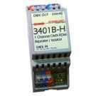 3801B-H | DMX DALI bus Interface 5 dali adress/groups | RDM