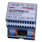 3633PWM-H | DMX / PWM decoder 3x 12/24V 4A CC | RDM