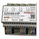 3204R-HP | DMX Relais 4x NO 230V 16A | dinrail | RDM