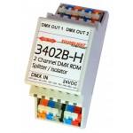 3402B-H | DMX RDM splitter/booster, RDM
